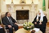 Святейший Патриарх Кирилл встретился c послом Ирака в России Исмаилом Шафиком Мухсином