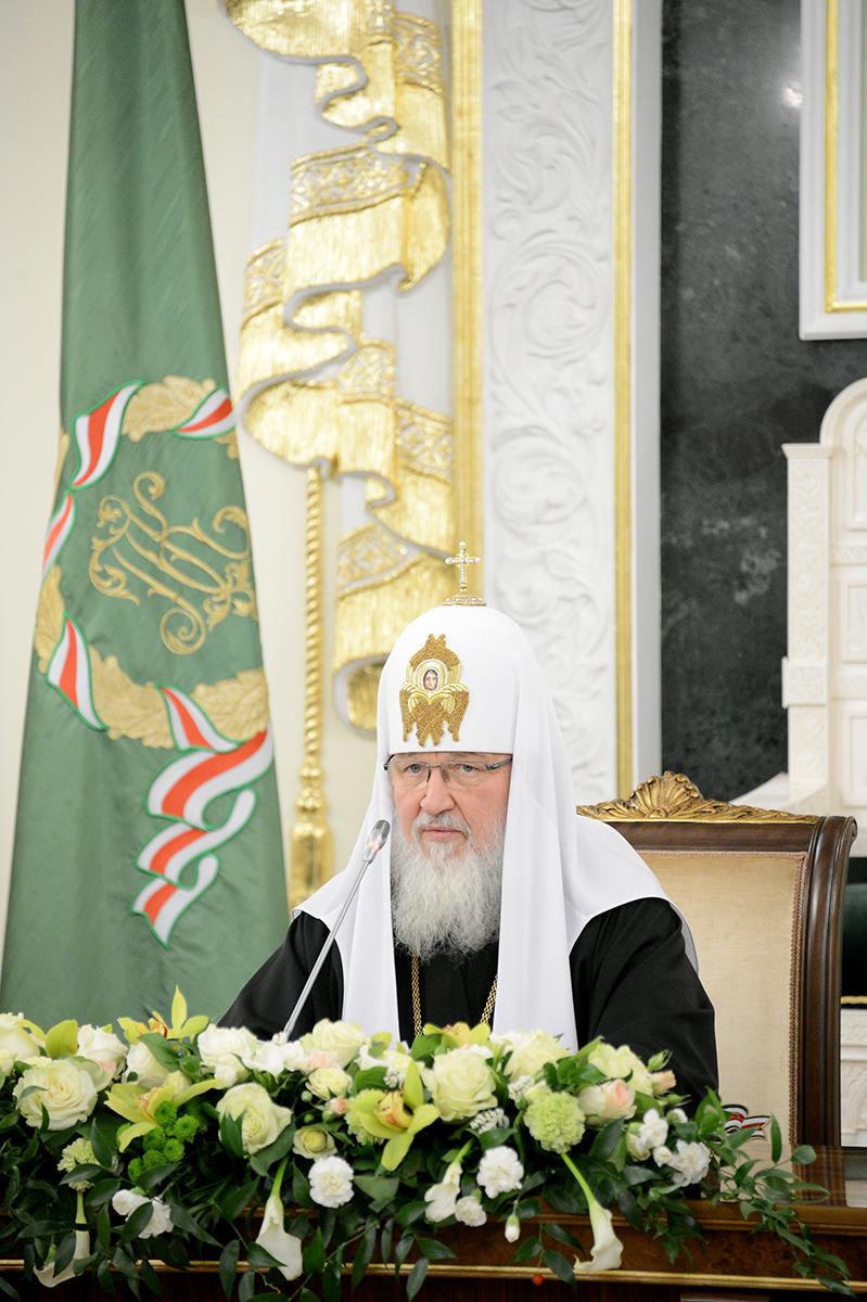 Встреча Святейшего Патриарха Кирилла с архиереями Дальнего Востока и представителем Президента РФ в Дальневосточном федеральном округе