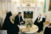 Предстоятель Русской Православной Церкви принял губернатора Вологодской области
