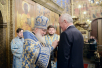 Патриаршее служение в праздник Введения во храм Пресвятой Богородицы в Успенском соборе Московского Кремля