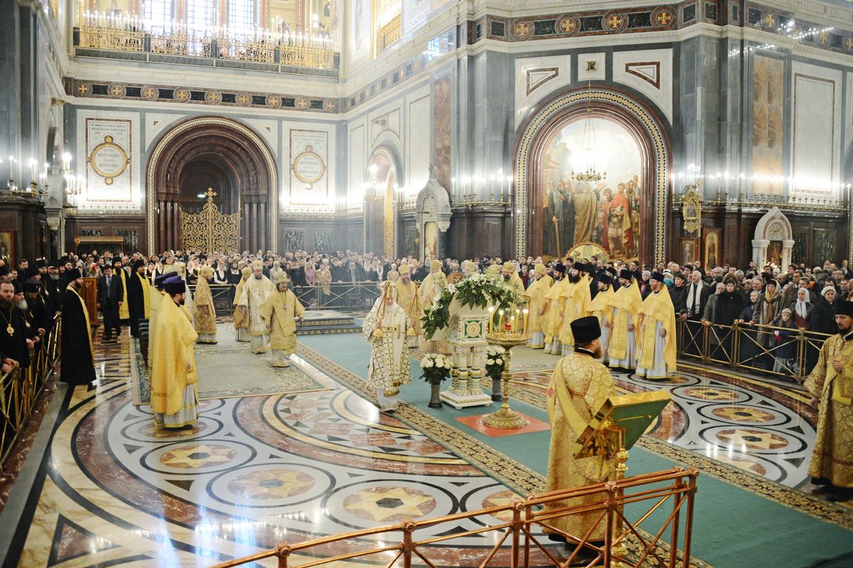 Патриаршее служение в неделю 35-ю по Пятидесятнице в Храме Христа Спасителя