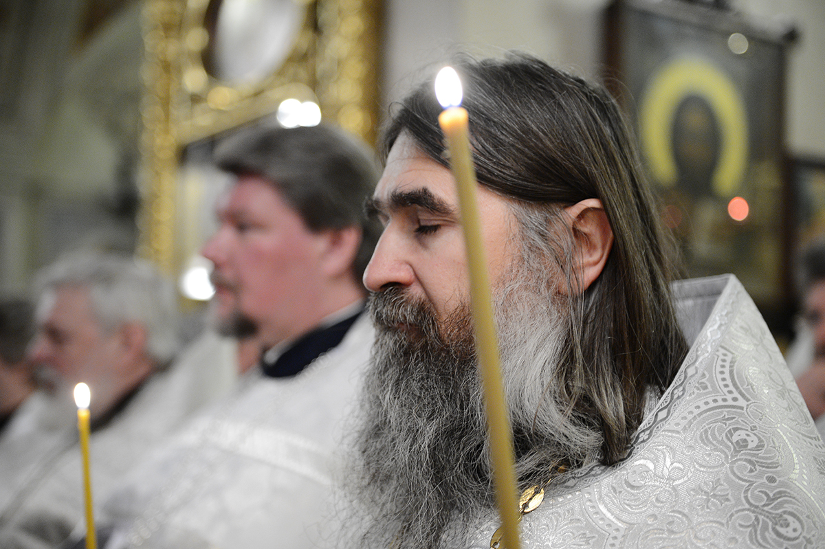 Панихида в Богоявленском соборе в Елохове в пятую годовщину со дня кончины приснопамятного Патриарха Алексия II