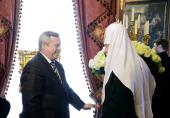Состоялась встреча Святейшего Патриарха Кирилла с губернатором Ростовской области В.Ю.Голубевым