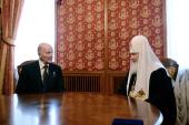 Святейший Патриарх Кирилл встретился с царем болгар Симеоном II