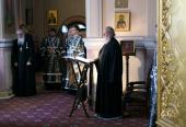 В канун Великого вторника Святейший Патриарх Кирилл принял участие в вечернем богослужении в Иоанно-Предтеченском ставропигиальном монастыре