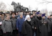 Митрополит Ставропольский и Невинномысский Кирилл принял участие в церемонии открытия памятника герою войны 1812 года атаману Матвею Платову