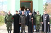В Александро-Невском храме на территории воинской части Космических войск РФ в Таджикистане впервые совершена Литургия архиерейским чином