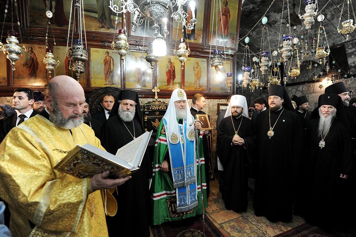 Визит Святейшего Патриарха Кирилла в Иерусалимский Патриархат. Посещение Гробницы Божией Матери в Гефсимании