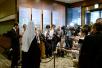 Первосвятительский визит в Японию. Вручение председателем ОВЦС наград сотрудникам посольства Российской Федерации. Беседа Святейшего Патриарха с представителями СМИ