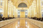 Выступление Святейшего Патриарха Кирилла на встрече Президента РФ В.В. Путина с участниками Архиерейского Собора Русской Православной Церкви