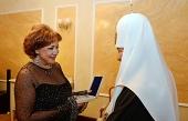 Святейший Патриарх Кирилл посетил юбилейный концерт народной артистки России Ольги Бородиной в Государственном Кремлевском дворце