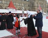 Открытие турнира по русскому хоккею на Кубок Патриарха в Москве