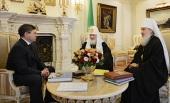 Святейший Патриарх Кирилл встретился с губернатором Тюменской области В.В. Якушевым