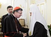 Состоялась встреча Святейшего Патриарха Кирилла с председателем Папского совета по содействию христианскому единству кардиналом Куртом Кохом