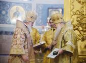 Святейший Патриарх Кирилл вручил высокие церковные награды архипастырям, отмечающим памятные даты в 2013 году
