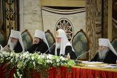 Святейший Патриарх Кирилл напомнил, что епископ — не просто администратор, но пастырь, готовый положить душу свою за каждого клирика и мирянина епархии