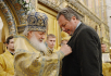 Патриаршее служение в Зачатьевском монастыре в день престольного праздника обители