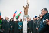 В Астрахани освящен памятник равноапостольному князю Владимиру
