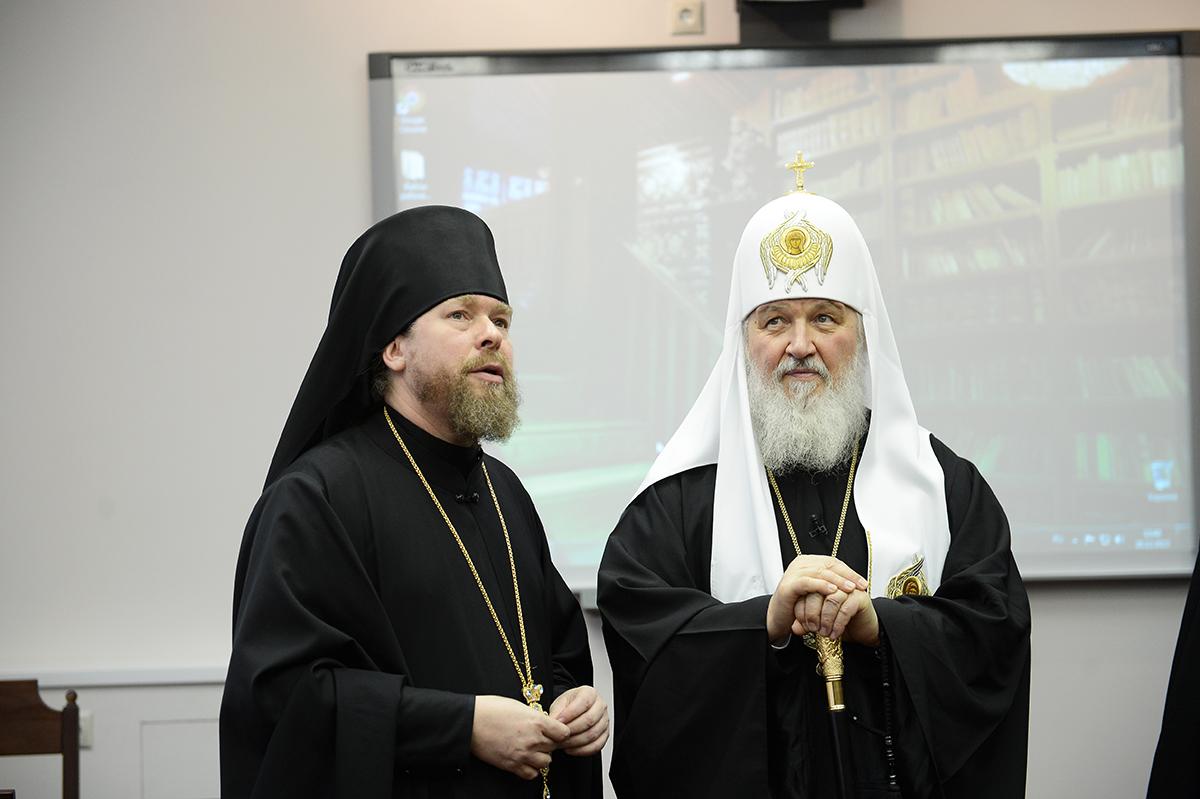 Патриаршее служение в Сретенском монастыре. Освящение нового здания Сретенской духовной семинарии