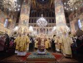 В день памяти священномученика Ермогена, патриарха Московского, Предстоятель Русской Церкви совершил Литургию в Успенском соборе Московского Кремля