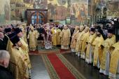 В день 400-летия избрания на царство Михаила Федоровича Романова Предстоятель Русской Церкви совершил Литургию в Успенском соборе Кремля
