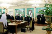 Под председательством Святейшего Патриарха Кирилла началось заседание Священного Синода Русской Православной Церкви