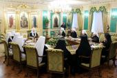 Состоялось первое заседание летней сессии Священного Синода Русской Православной Церкви