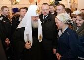В праздник Рождества Христова Святейший Патриарх Кирилл посетил следственный изолятор № 5 г. Москвы
