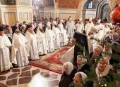 В праздник Рождества Христова в Успенском соборе Киево-Печерской лавры была совершена Божественная литургия
