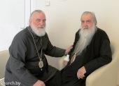 Митрополит Минский и Слуцкий Павел посетил в больнице почетного Патриаршего экзарха митрополита Филарета