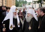 Предстоятель Русской Православной Церкви посетил Александро-Невскую лавру и совершил литию на могиле митрополита Никодима (Ротова)