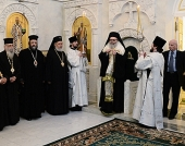 Предстоятель Антиохийской Православной Церкви совершил молебен в крестовом храме резиденции Патриарха Московского и всея Руси
