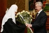 Мэр Москвы поздравил Предстоятеля Русской Церкви с 5-й годовщиной интронизации