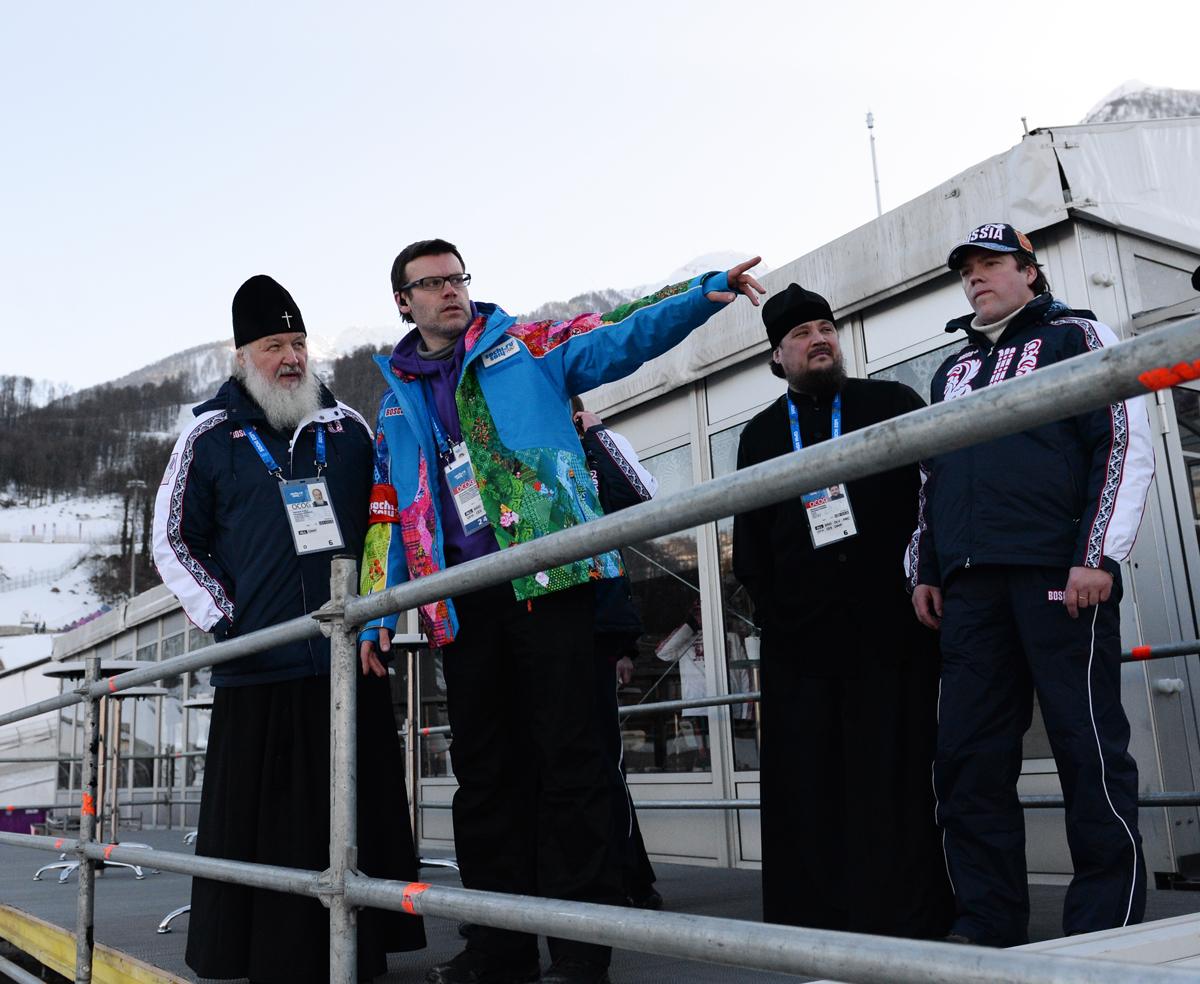 Визит Святейшего Патриарха Кирилла в Сочи. Посещение объектов горного кластера Олимпиады