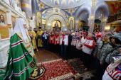 Святейший Патриарх Кирилл совершил молебен в храме Нерукотворного Образа Спасителя в Сочи