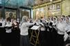Патриаршее служение в праздник Собора новомучеников и исповедников Церкви Русской в Успенском соборе Московского Кремля