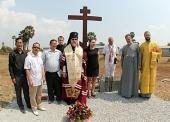 Руководитель Управления Московской Патриархии по зарубежным учреждениям совершил закладку новых храмов в Камбодже