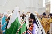 Слово Святейшего Патриарха Кирилла при вручении архиерейского жезла Преосвященному Серафиму (Домнину), епископу Кузнецкому и Никольскому