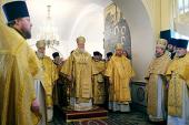 В неделю о мытаре и фарисее Предстоятель Русской Церкви совершил Литургию в московском храме Воздвижения Креста Господня в Алтуфьеве
