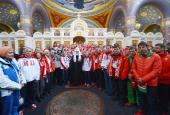 Поздравление Святейшего Патриарха Кирилла Президенту РФ В.В. Путину с победой сборной России на XXII Олимпийских Зимних играх