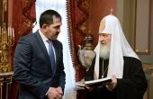 Святейший Патриарх Кирилл провел встречу с главой Республики Ингушетия Ю.Б. Евкуровым