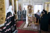 Проповедь Святейшего Патриарха Кирилла в канун Великой среды в Крестовоздвиженском Иерусалимском монастыре
