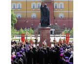 Слово Святейшего Патриарха Кирилла после освящения памятника священномученику Ермогену у стен Московского Кремля