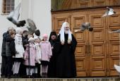 Слово Святейшего Патриарха Кирилла в праздник Благовещения Пресвятой Богородицы в Благовещенском соборе Московского Кремля