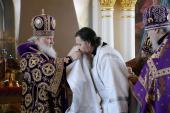 Слово Святейшего Патриарха Кирилла при вручении архиерейского жезла Преосвященному Феогносту (Дмитриеву), епископу Новороссийскому и Геленджикскому