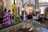 Слово Святейшего Патриарха Кирилла в праздник Входа Господня в Иерусалим после Литургии в Храме Христа Спасителя