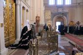 Проповедь Святейшего Патриарха Кирилла в канун Великого вторника в Иоанно-Предтеченском монастыре