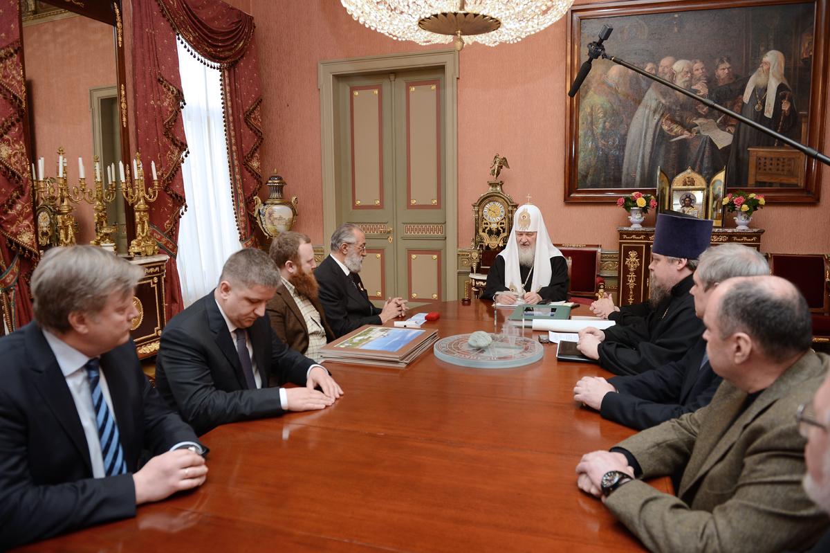 Встреча Святейшего Патриарха Кирилла с участниками проекта «Русская Арктика»