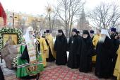 Слово Святейшего Патриарха Кирилла после молебна на месте будущего памятника святителю Ермогену у стен Московского Кремля