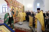 Слово Святейшего Патриарха Кирилла после освящения храма Усекновения главы Иоанна Предтечи в Братеево